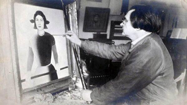 К.С. Малевич за работой. 1932.