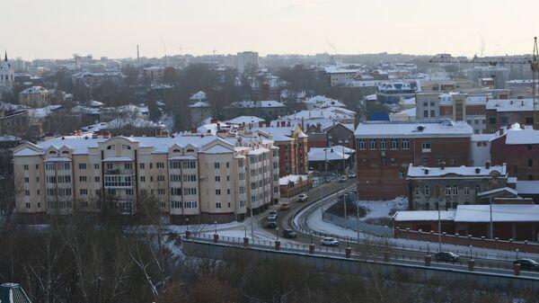 Вид на Томск поздней осенью.