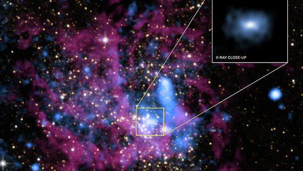 """Снимки окрестностей черной дыры Sgr A* в центре Галактики, полученные при помощи """"Чандра"""""""