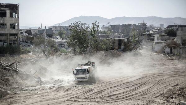 Бои в пригороде Дамаска. Архивное фото