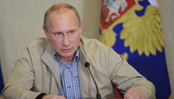 Рабочий визит В.Путина в Дальневосточный федеральный округ