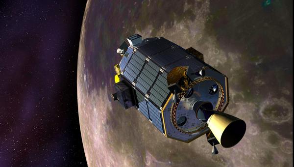 Лунный зонд НАСА LADEE глазами художника. Архивное фото