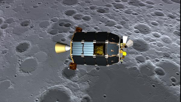 Лунный зонд НАСА LADEE глазами художника, архивное фото