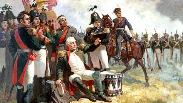 Генерал-фельдмаршал М.И.Кутузов в день Бородинского сражения