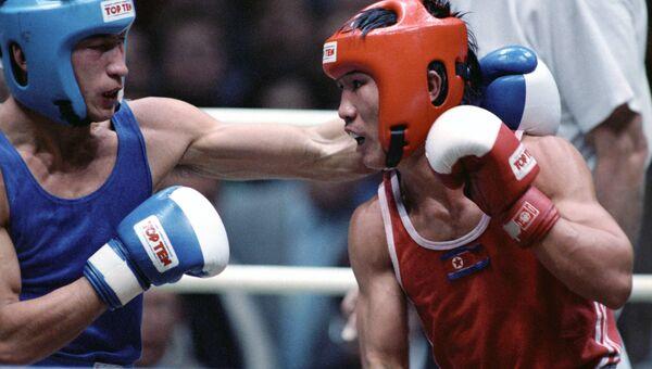 Ю.Арбачаков, чемпион мира по боксу, архивное фото