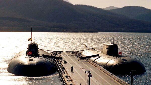 Ракетные атомные подводные лодки у пирса