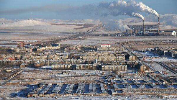 Вид на город Краснокаменск. Архивное фото