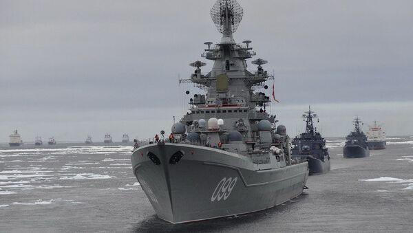 Ледокольная проводка кораблей и судов Северного флота к Новосибирским островам