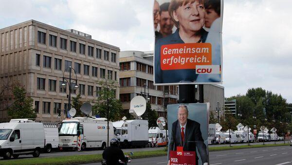 Предвыборная агитация в Германии, фото с места события