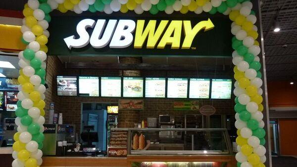 Ресторан Subway в Москве. Архивное фото