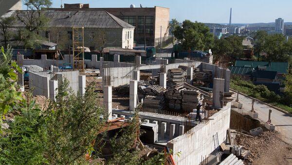 Строительство на Орлиной сопке во Владивостоке