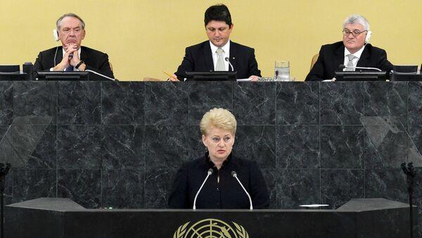Глава Литвы Даля Грибаускайте на 68-й сессии Генеральной ассамблеи ООН. Архивное фото