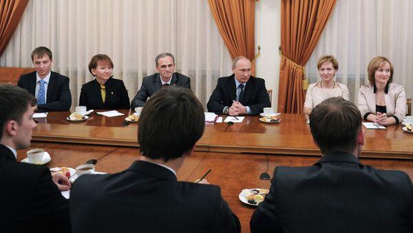 В.Путин встретился с лауреатами конкурса Учитель года России–2013