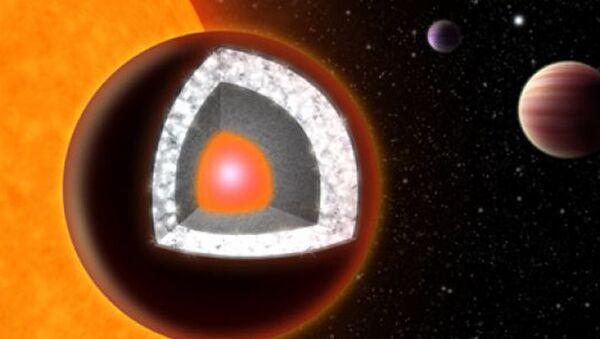 Алмазная экзопланета 55 Cnc e глазами художника