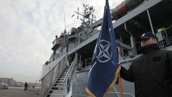Корабли постоянной минно-тральной группы НАТО. Архивное фото