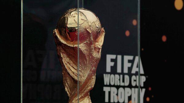 Трофей чемпионата мира по футболу. Архивное фото