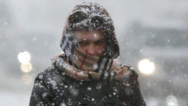 Сильный снегопад в Томске, архивное фото