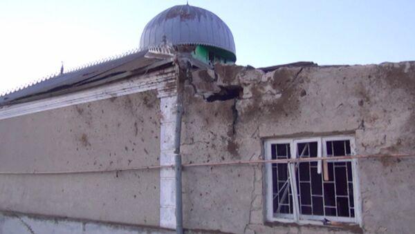 Первые кадры с места взрыва у здания мечети в Кабардино-Балкарии