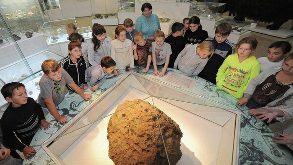 Метеорит Челябинск в краеведческом музее Челябинска
