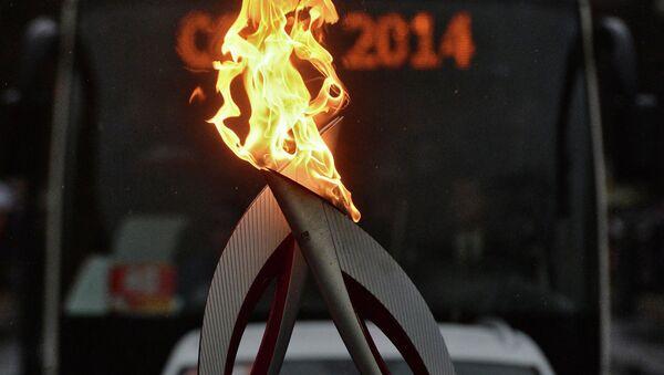 Эстафета Олимпийского огня. Гатчина. Архивное фото