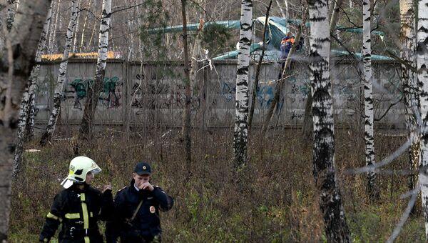 Вертолет Ка-32 упал в районе Выхино-Жулебино на юго-востоке Москвы