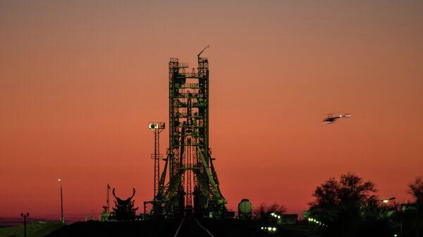 Пусковая площадка на космодроме Байконур