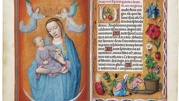 Часослов Ротшильда в формате иллюминированного манускрипта на пергаменте, Гент или Брюгге,  около 1505 года