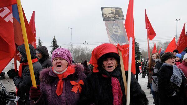 Красноярские коммунисты отмечают очередную годовщину Октября