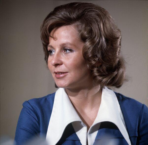 Диктор Центрального телевидения СССР Ангелина Михайловна Вовк
