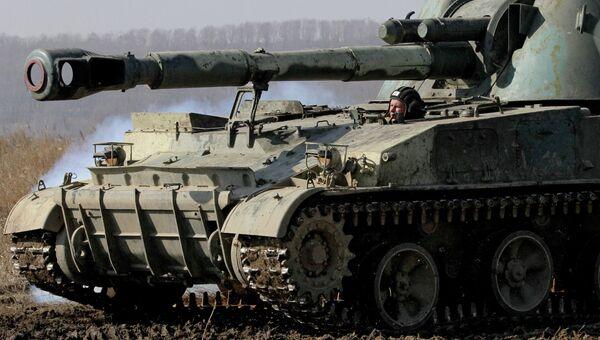 152-мм самоходная артиллерийская установка 2С3 Акация. Архивное фото