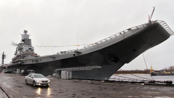 Индийский авианосец Викрамадитья в Северодвинске. Архивное фото