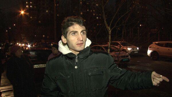 Неизвестный застрелил водителя иномарки в Москве. Съемка с места убийства