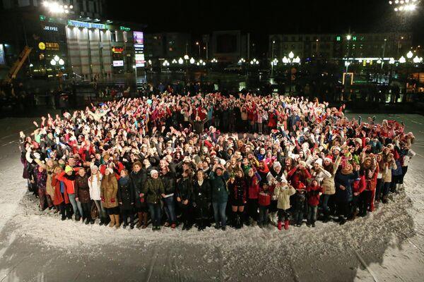 Жители Калининграда во время съемок народной новогодней комедии Елки 3