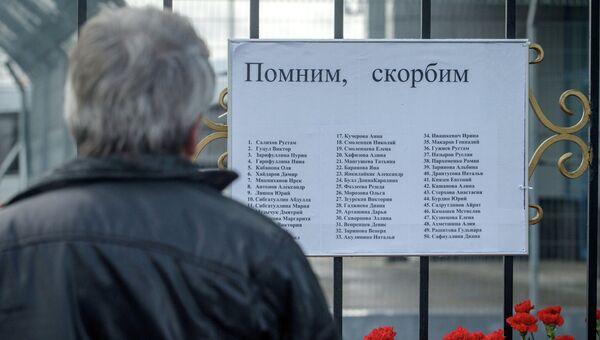 Жители Казани несут цветы в память о погибших в авиакатастрофе самолета Boeing 737. Архивное фото