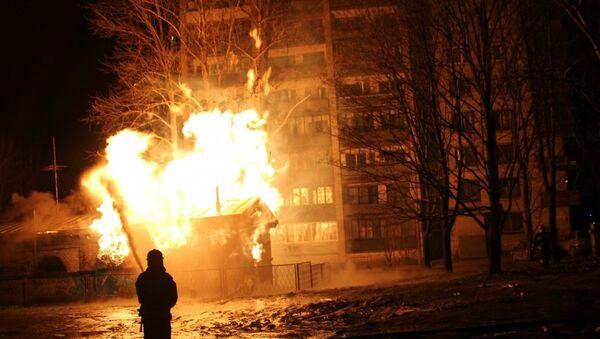Пожар на газораспределительной станции в Петербурге, фото с места события