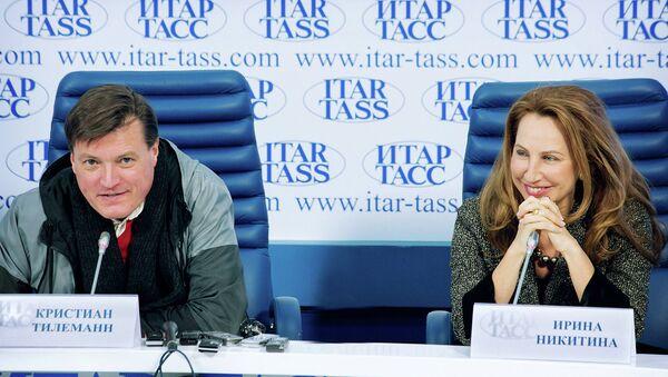 Дирижер  Венского филармонического оркестра Кристиан Тилеман и организатор гастролей Ирина Никитина