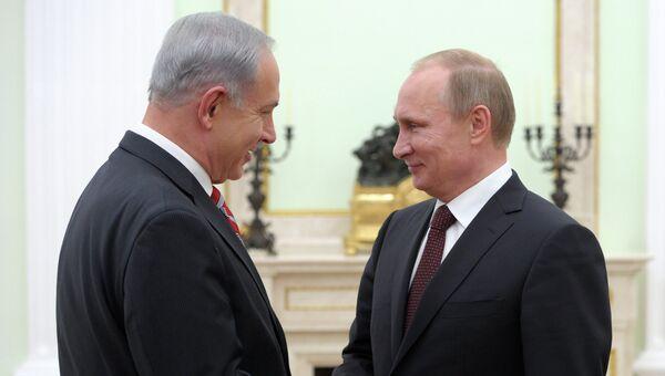 В.Путин встретился с Б.Нетаньяху. Фото с места события