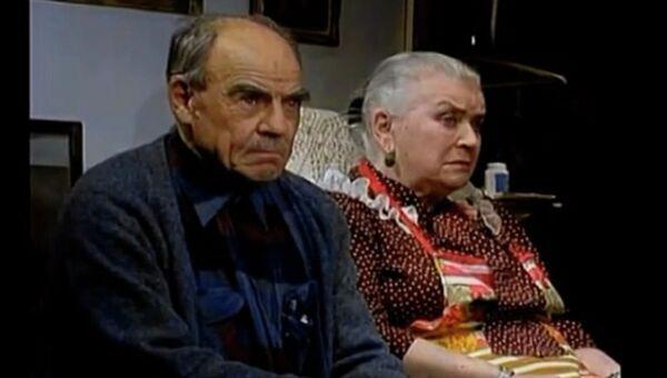 Сцена из спектакля Уходил старик от старухи