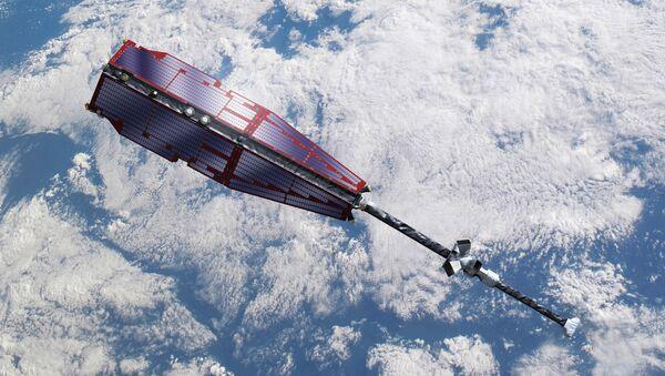 Спутники Swarm на орбите. Архивное фото