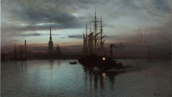 Лев Лагорио. Белая ночь на Неве. 1886 год