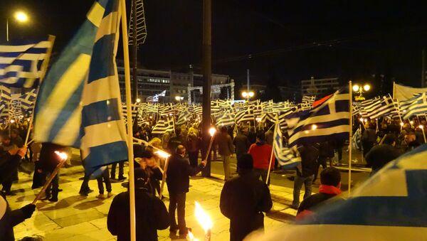Греческие флаги, архивное фото