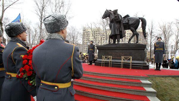 Памятник атаману Платову в Лефортово