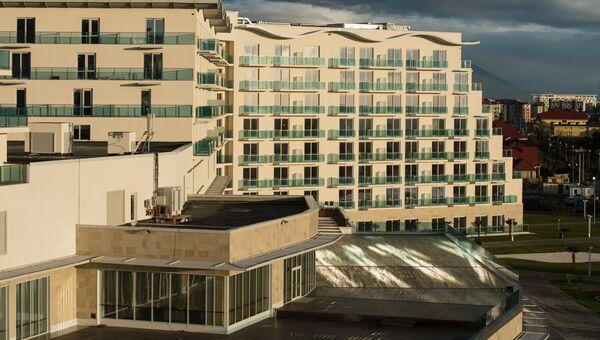 Один из корпусов гостиничного комплекса Азимут в Имеретинской низменности в Сочи. Архивное фото