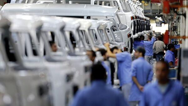 Завод Volkswagen в Сан-Паоло, Бразилия. Архивное фото