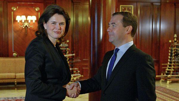 Д.Медведев встретился с А.Братушек. Фото с места события