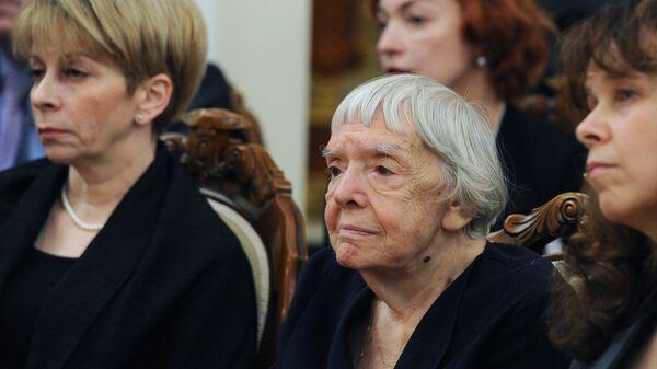 Председатель региональной общественной организации Московская Хальсинская группа Людмила Алексеева. Архивное фото