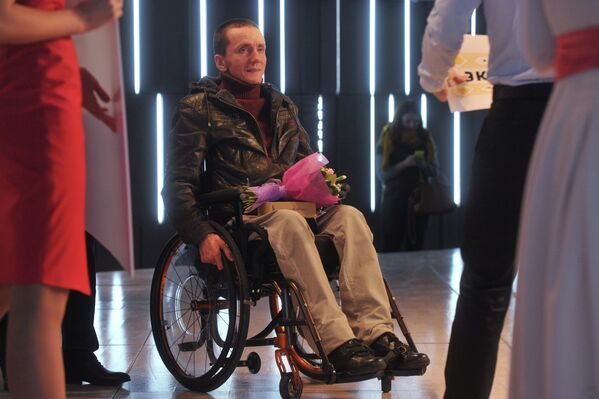 Создатель службы такси для инвалидов Роман Колпаков на церемонии награждения лауреатов премии Новая Интеллигенция