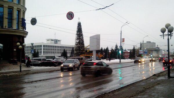 Дождь в декабре в Томске, архивное фото