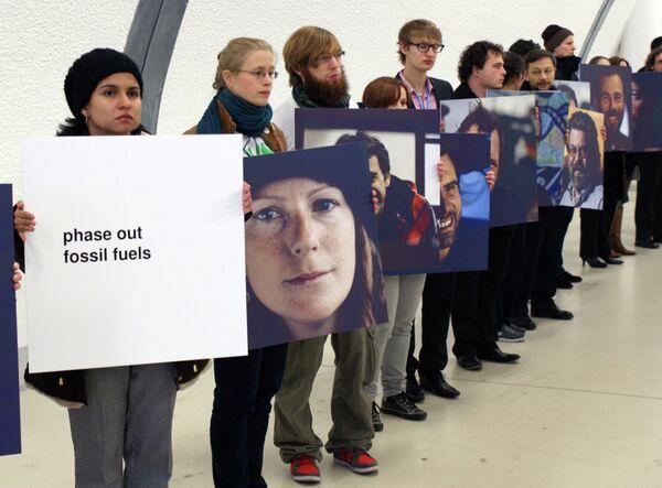 Акция в поддержку активистов Greenpeace на переговорах в Варшаве
