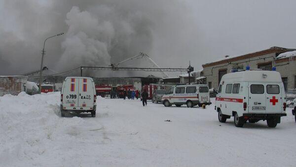 Пожар на птицефабрике Томская
